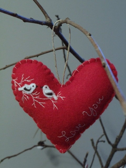Felt Heart Ornament.