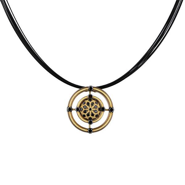 Black Diamond Mandala Bronze Pendant – Zoltan David Online Store