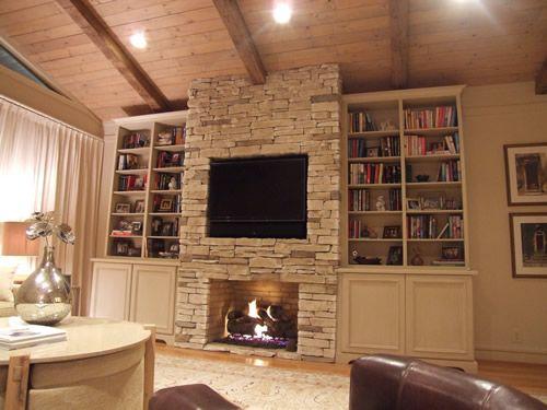 Fireplace With Build Ins Design Ideas | Marisa Interior Design Studio    Mobile, AL