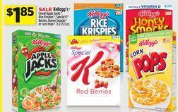 Kellogg's Cereal Apple Jacks, Rice Krispies, Special K Berries, Honey Smacks or Corn Pops 11.2-15.3 oz. from Dollar General $1.85