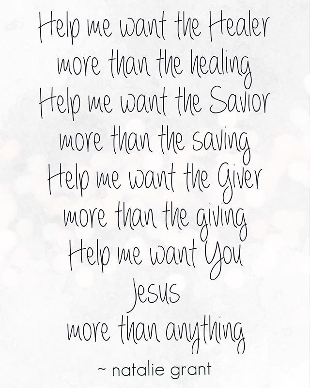 """WEBSTA @nataliegrant I remember when I was in the studio recording this song, as I began to sing, I felt a tinge of conviction. I actually paused for a moment and said, """"Jesus, I'm sorry this isn't always true. I'm sorry I sometimes want what you can do for me, more than just wanting YOU."""" These last few months, I've had an opportunity to walk these words out. Through it all, I can say - JESUS over everything."""