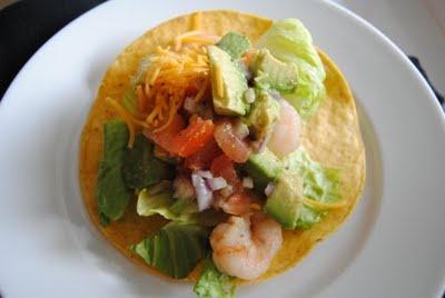 Shrimp Tostada with Avocado Salsa | HealthiER Eats | Pinterest