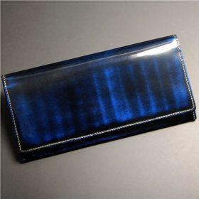 長財布 日本製 本革 天然 磨き革 レザー 。日本製 長財布 メンズ 丹念な重ね塗りと磨きで深みのある色グラデーションを表現した本革アドバンレザー使用の長サイフ