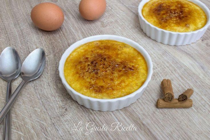 Crema catalana - La Giusta Ricetta - Ricette semplici di cucinaLa Giusta Ricetta – Ricette semplici di cucina