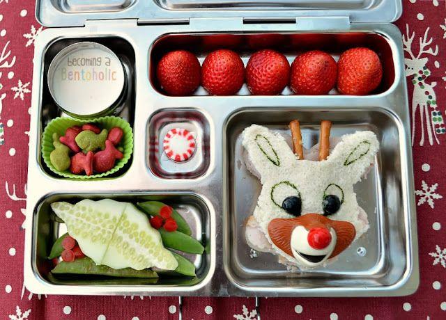 Rudolph sandwich lunch ~ Becoming A Bentoholic