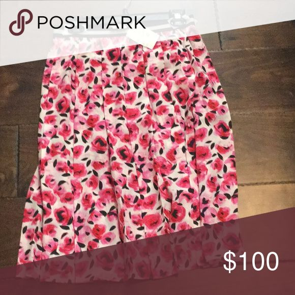 Kate Spade Floral Pink Silk Skirt NWT I have the matching shoes to this skirt and picked it up on a whim when I saw it at Nordstromrack summer of 2017. Never wore it! I ended up finding the dress that matched instead. Just sitting in the back of my closet. NWT size 6. kate spade Skirts A-Line or Full
