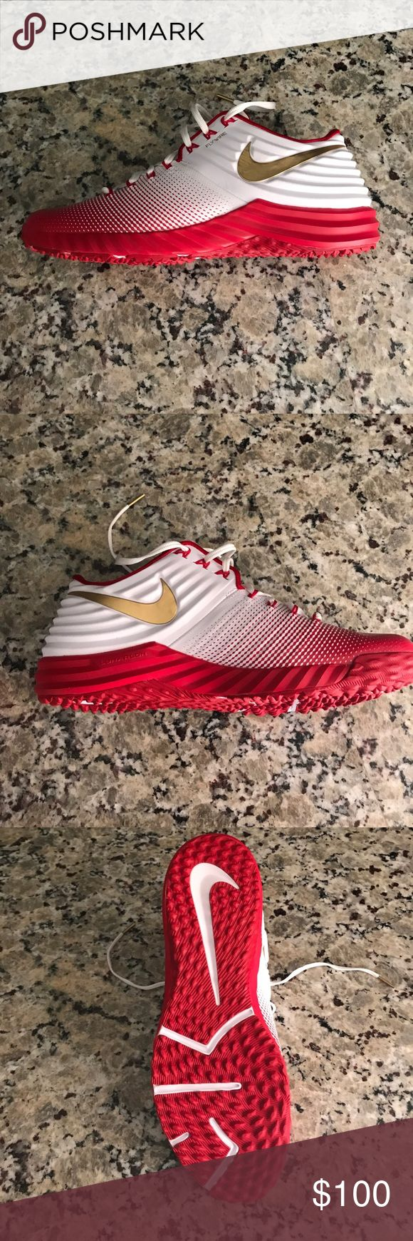 Nike Lunar Trout Turf Trainers Brand new limited edition Mike Trout Limited Edition Trainer. Never warm took a gamble on buying half size smaller than my usual sizes because that's all they had. Too small for me. Nike Shoes Athletic Shoes