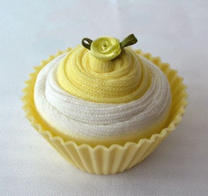 Nappy cakes cupcake made out of baby socks how cute!