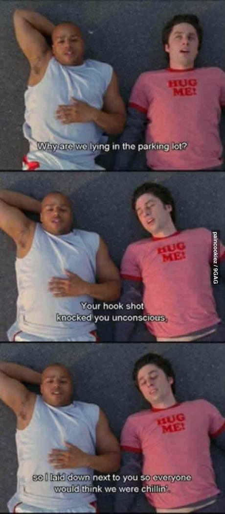 Hahaha A true best friend. I love this for three fact that in real life they are real best friends :) Turk and J.D. Forever