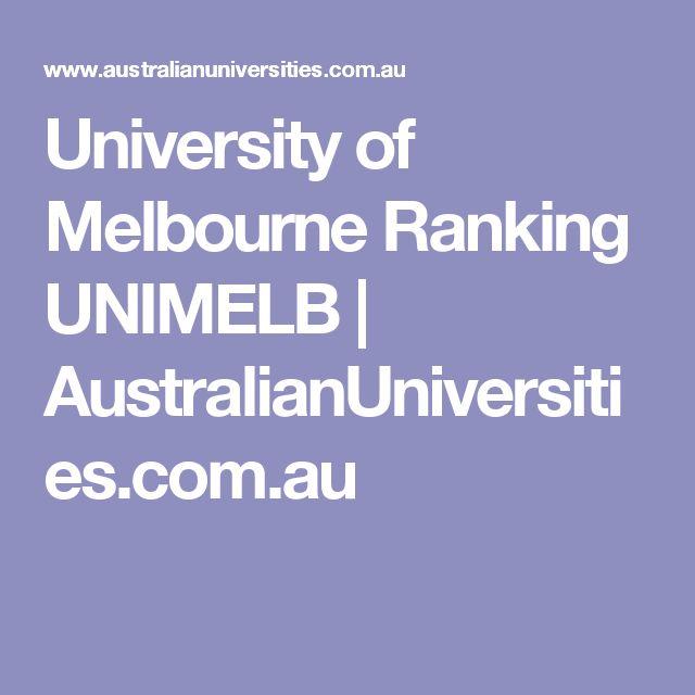 Les 25 meilleures ides de la catgorie uni ranking sur pinterest university of melbourne ranking unimelb australianuniversities ccuart Gallery
