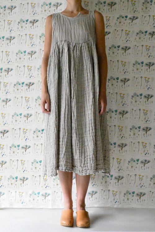 Daniela Gregis washed sleeveless pesci senza collo dress