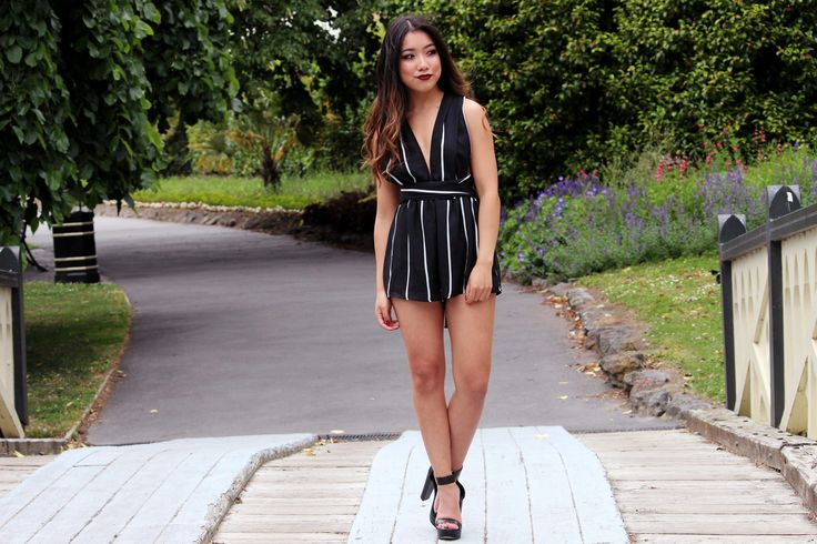 Outfit : At Play Wearing Princess Polly Playsuit / Dotti Black Heels