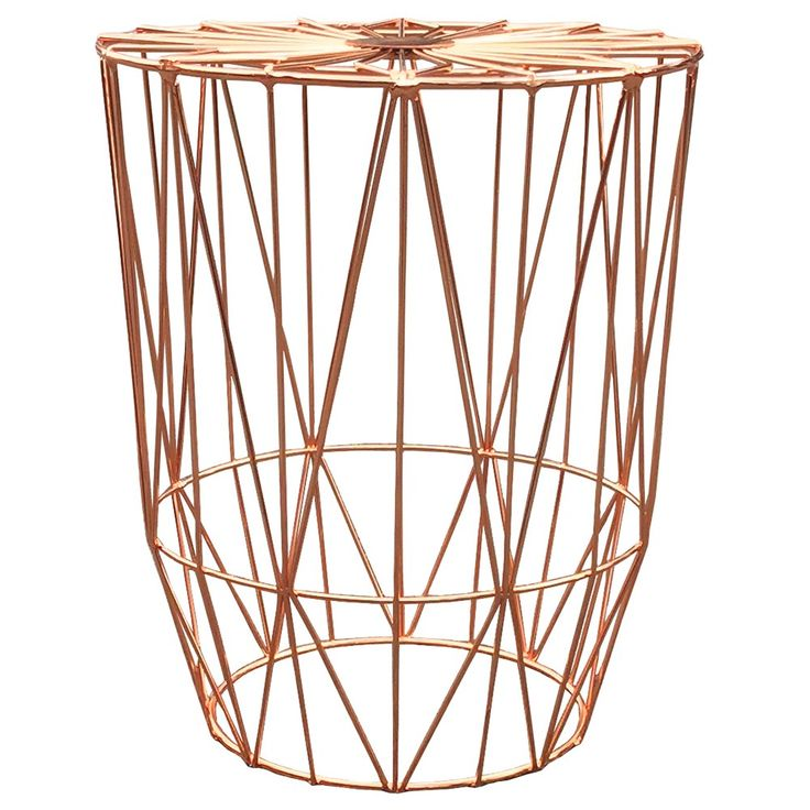 Copper Studio Wire Side Table - Midnight Oil - T&W Blended Events 2015