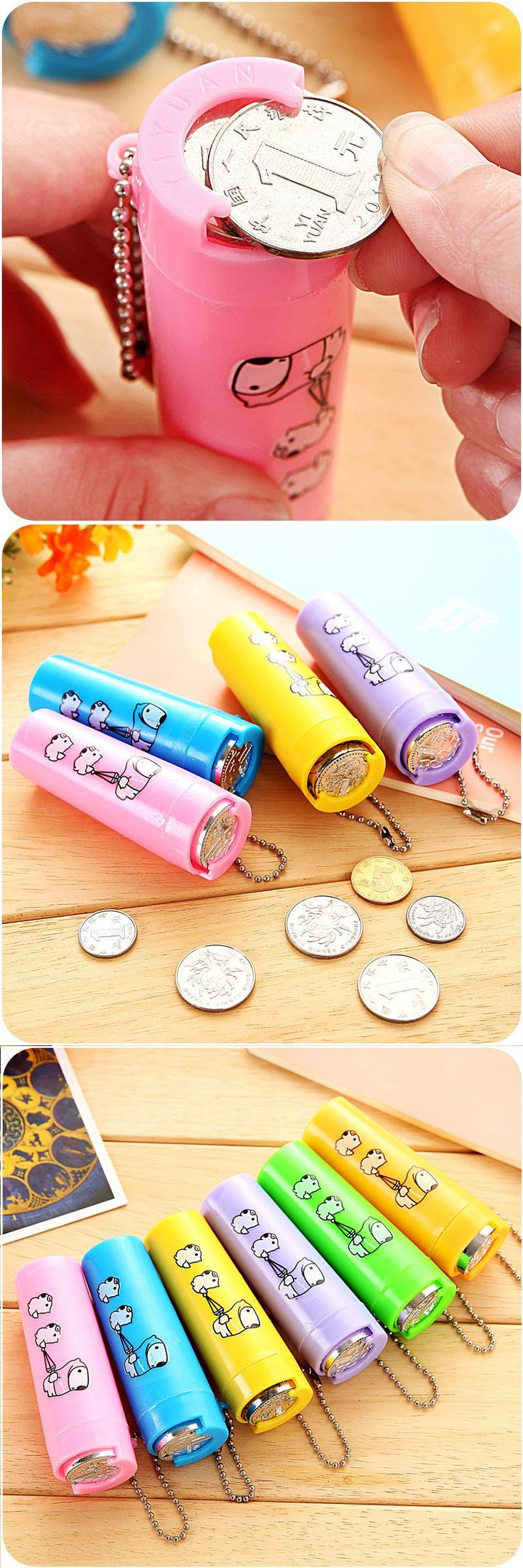 [Visit to Buy] New 2 Pcs/lot Easy Tube Change Purse Piggy Bank Coin Hopper Can Be Loaded Storage Box Free Shipping  #Advertisement
