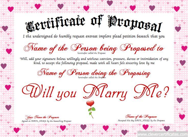 marriage proposal template - solarfm.tk