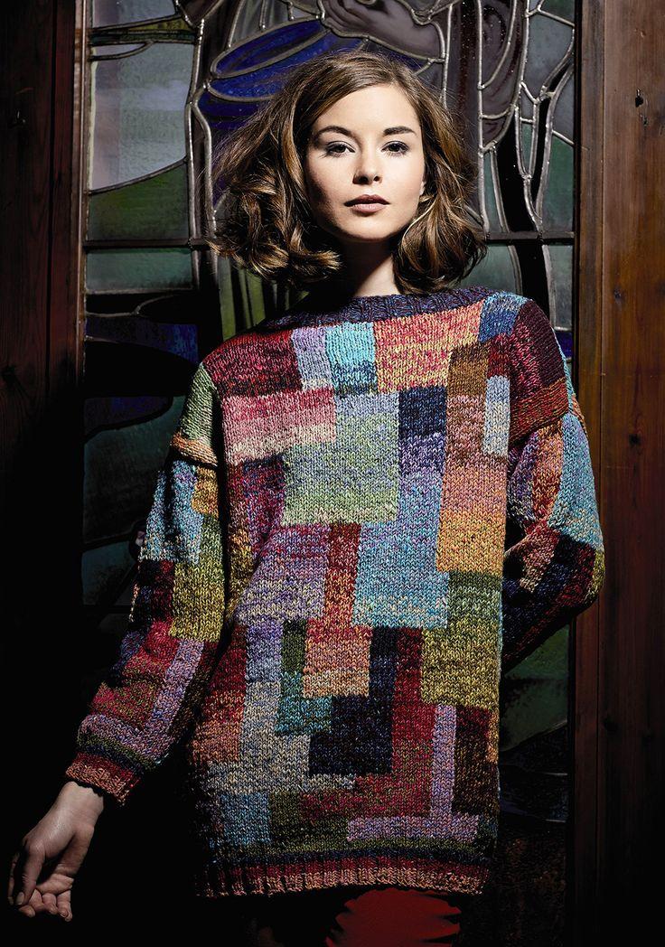 Rowan Magazine 56 A/W 2014: Katja, designed by Kaffe Fassett, in Rowan Fine Tweed