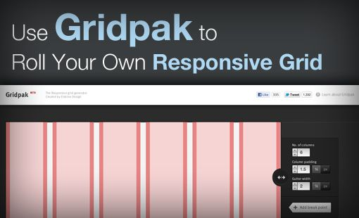 Use Gridpak to Roll Your Own Responsive Grid