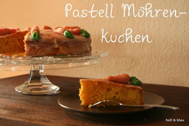 Leckerer Möhrenkuchen - nicht nur zu Ostern ein Highlight :) Das Rezept gibts auf dem Blog: http://hellundblau.blogspot.de/2015/03/PastellMoehrenkuchen.html#more