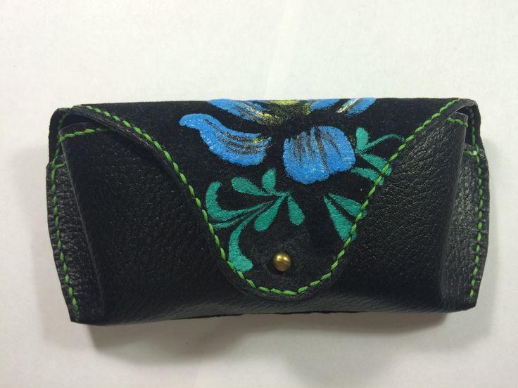 Чехол для очков. Очечник. Eyeglass Case Leather, handmade