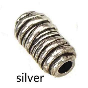 Бусины камера своими руками аксессуары выводы для ювелирные изделия антикварный золото серебро металл цилиндр 6 * 11 мм 100 шт купить на AliExpress
