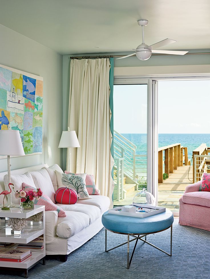 Boardwalk Beauty pastel living room