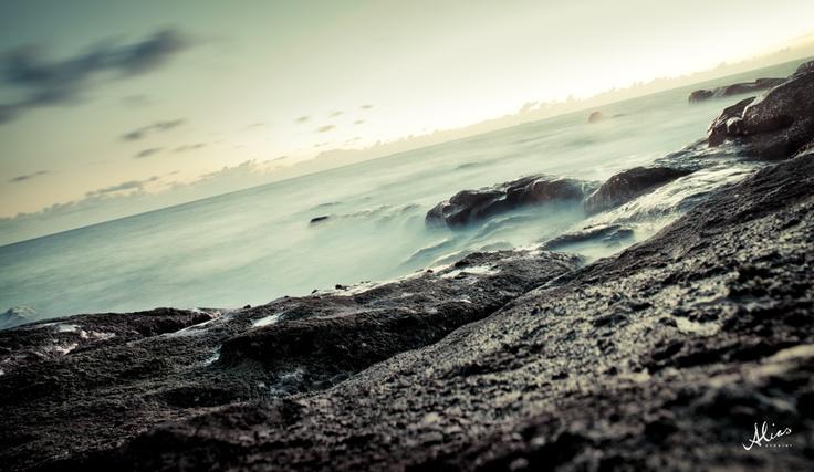 Landscape photo of rocks near the atlantic ocean coast. Place is Porto, Portugal (photo taken 2012)