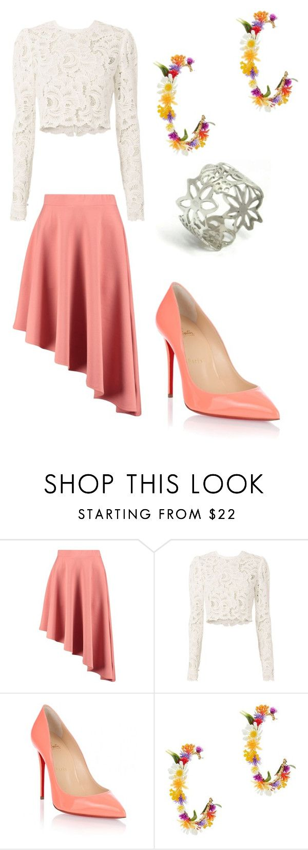 """""""Mambo No. 5, Lou Bega"""" by p0laroid ❤ liked on Polyvore featuring Boohoo, A.L.C., Christian Louboutin and Mercedes Salazar"""