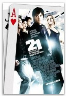 "21 (2008) Stars: Jim Sturgess, Kate Bosworth, Kevin Spacey, Aaron Yoo About: ""21"" is the fact-based story about six MIT students who were trained to become experts in card counting and subsequently took Vegas casinos for millions in winnings."