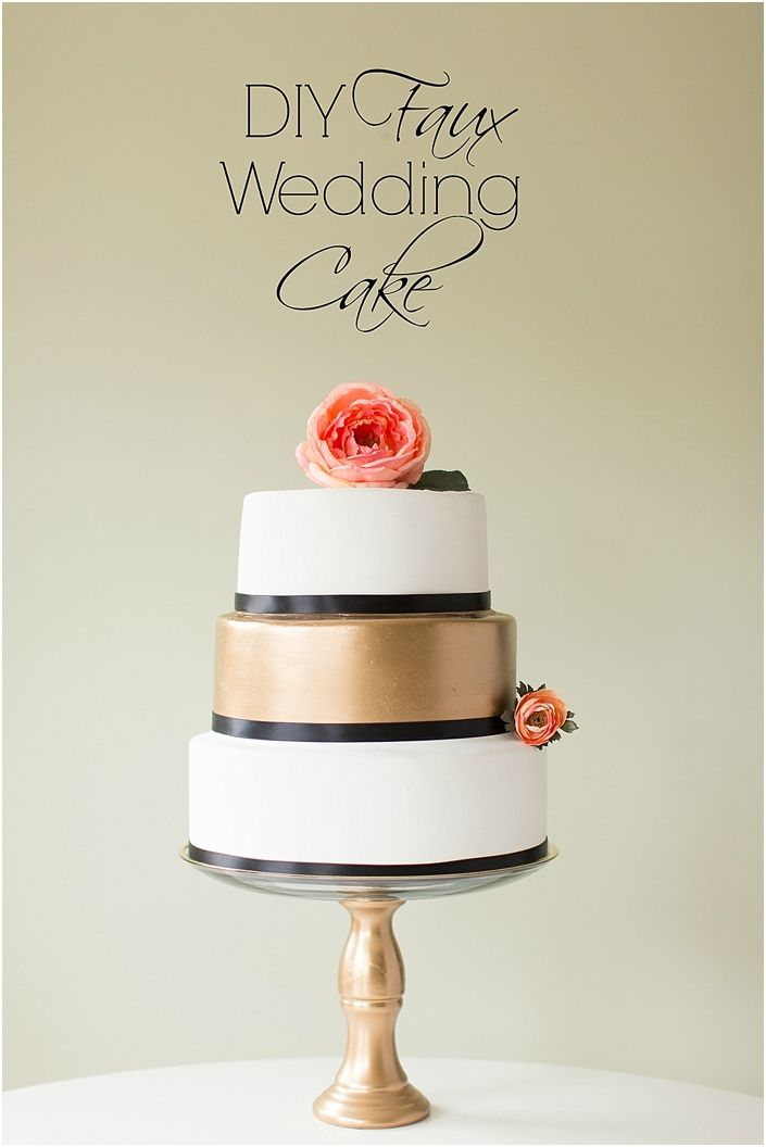 Learn how to make a fake wedding cake just like this for a wedding or photo shoot! by JoPhoto