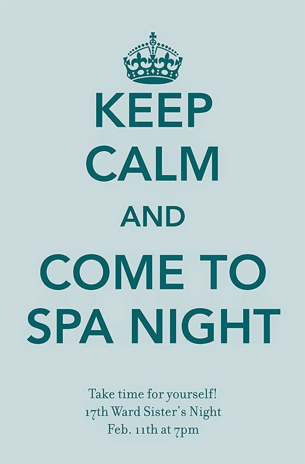JoAnn's Special: Relief Society Spa Night