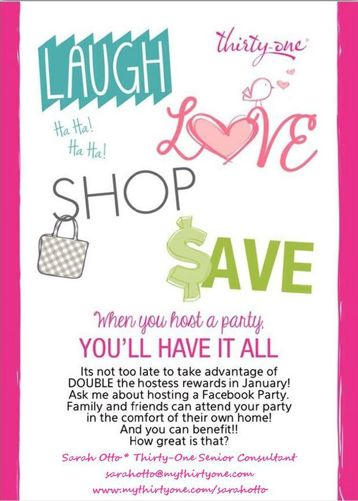 34 best Thirty One FB Party images on Pinterest | 31 gifts, Thirty ...
