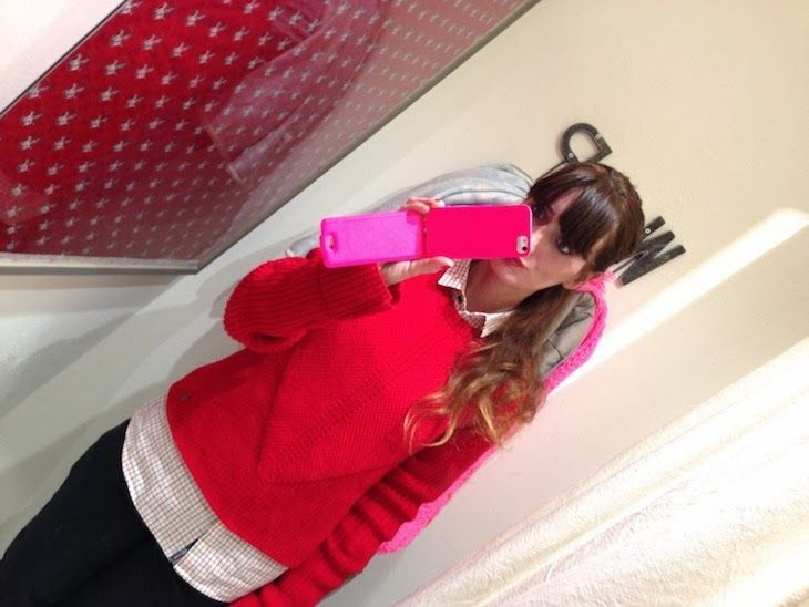 #red #style #sweater #jumper THE FASHIONAMY by Amanda: #Events - Opening WP Store a Parma, moda e aperitivo in via Repubblica