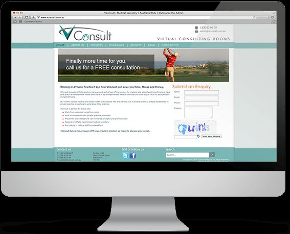 vConsult - offsite practice management and virtual consulting services.