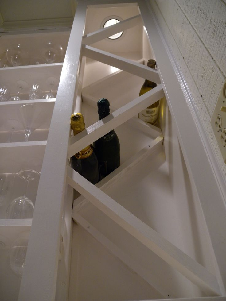 How to build a wine rack in a kitchen cabinet for Wine rack built in