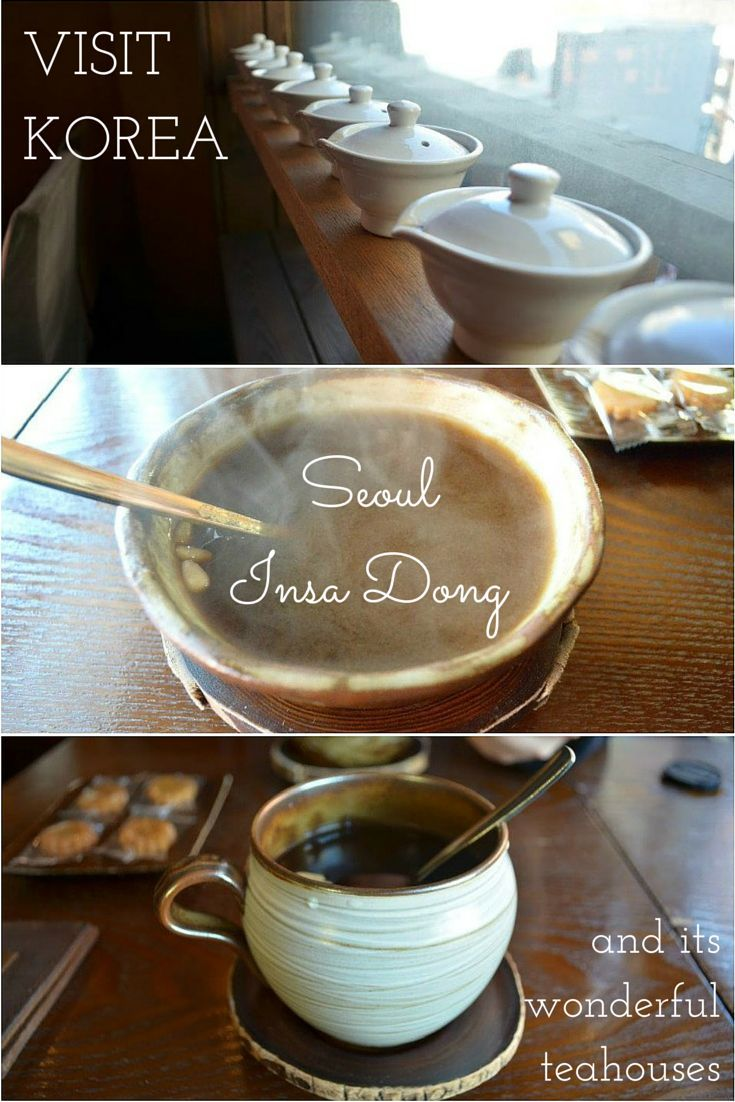 Along the wall, these gorgeous porcelain teacups served as decoration. Visit Seoul and enjoy its wonderful teahouses!