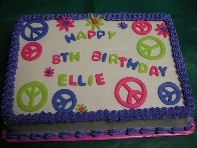 peace sign birthday cakes for girls | Peace Cake