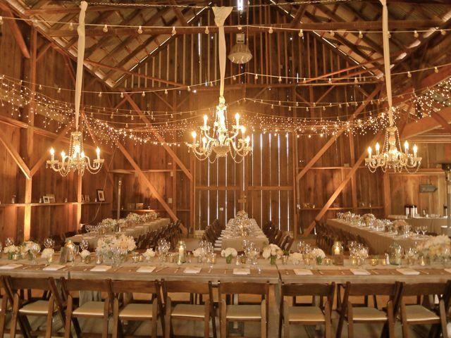 barn wedding lights. Coquelicot Estate Vineyard - Photos: Weddings. Barn Wedding LightingBarn Lights