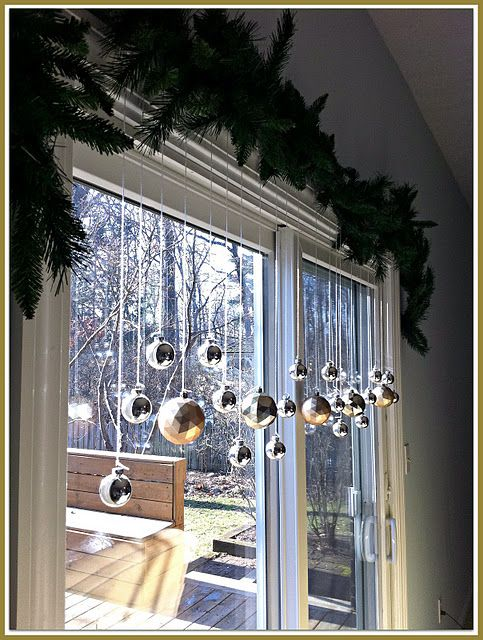 condo patio doors at christmas timeif we never opened them thatd be nice i think christmas pinterest christmas christmas decorations a - Indoor Window Christmas Decorations