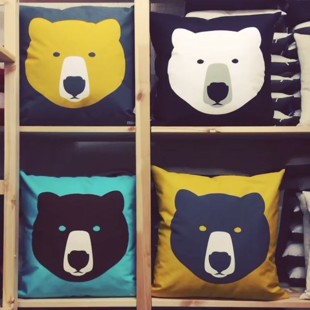 Square Bears! Our new turquoise Brown Bear / Ice Bear Cushion joins his brothers in our range... http://www.howkapow.com/homeware/cushions http://www.youtube.com/watch?v=S0gqcg7rMWc&feature=youtu.be