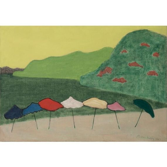 Milton Avery, Umbrellas At Acapulco