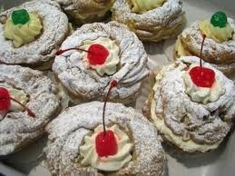 The traditional Italian pastry for St. Joseph's Day March 19th. Sfingi Di San Guiseppe.