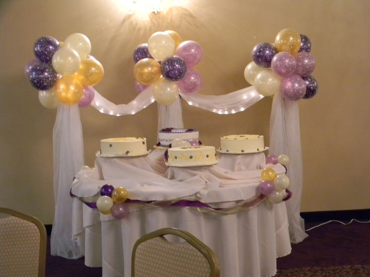 for back drop of cakedessert tabel instead of balloons use tulle and silk wedding balloon decorationsdecorations for weddingswedding