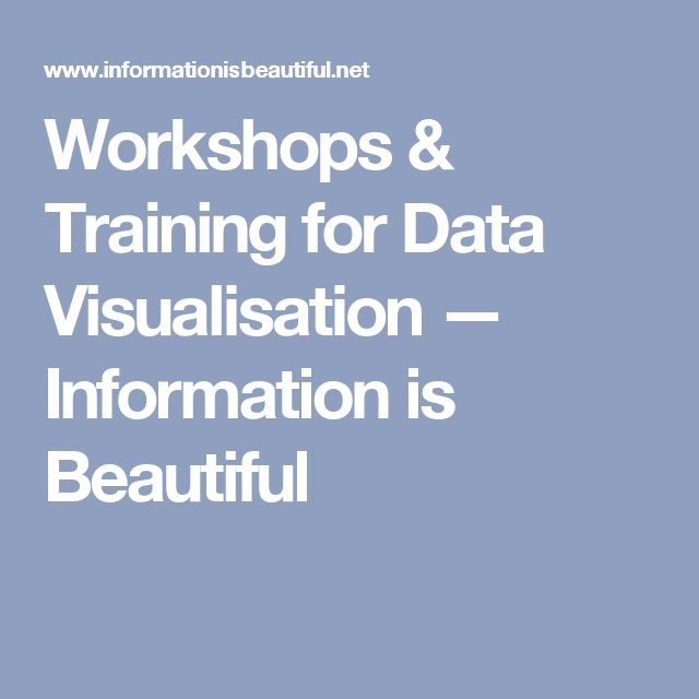 Workshops & Training for Data Visualisation — Information is Beautiful