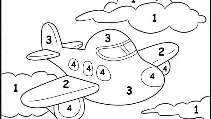 color by number plane worksheet