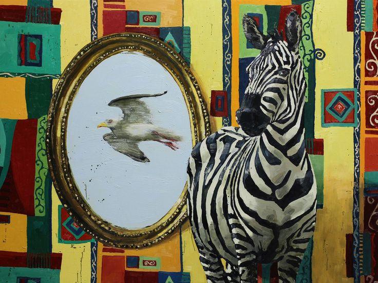 Tor-Arne Moen, 2013.  The Gull | 120x160 cm | Oil on canvas.