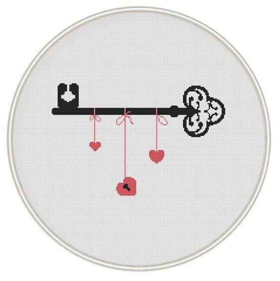 Key cross stitch pattern Counted cross stitch от MagicCrossStitch
