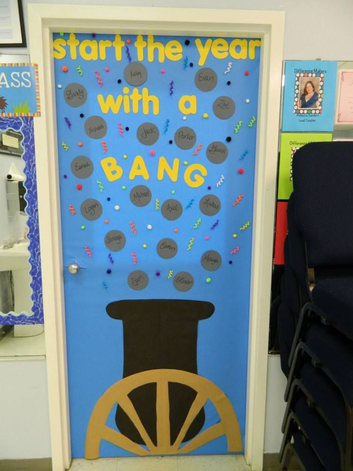 Our classroom back to school door decorations (could also be used as a bulletin board)! Help me win PAID TIME OFF by following the link to Facebook and LIKING this photo! #bullitinboard #doordecorations #backtoschool