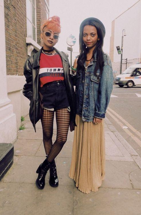 grunge street fashion                                                       …