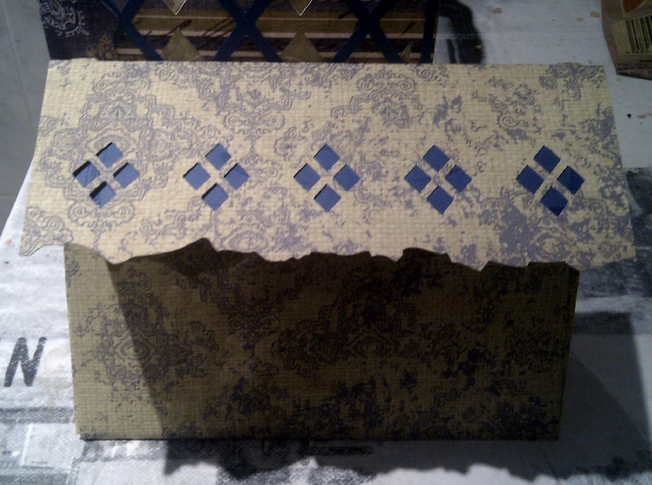 Tarjeta de rombos, sobre/argyle envelope