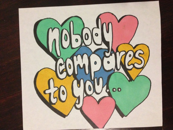 Nobody Compares- One Direction #differentheartcolors